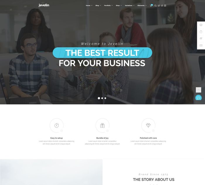 SEO friendly WordPress themes: Jevelin