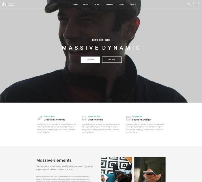 SEO friendly WordPress themes: Massive Dynamic