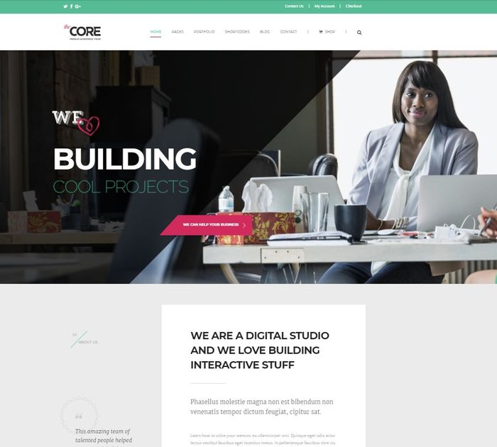 SEO friendly WordPress themes: The Core