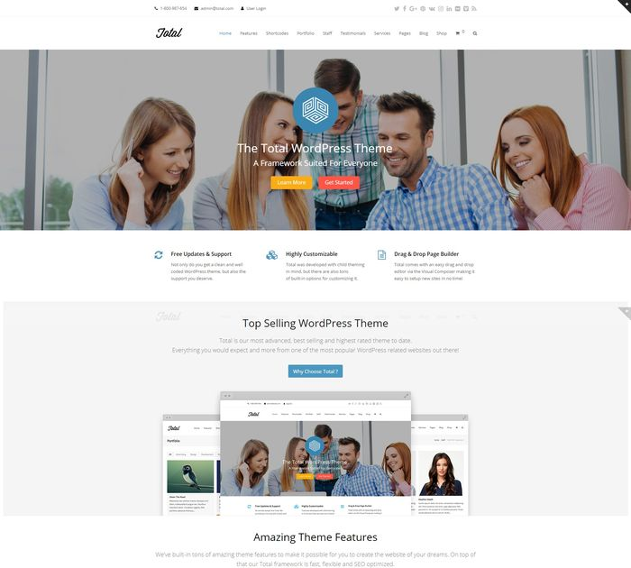 SEO friendly WordPress themes: Total