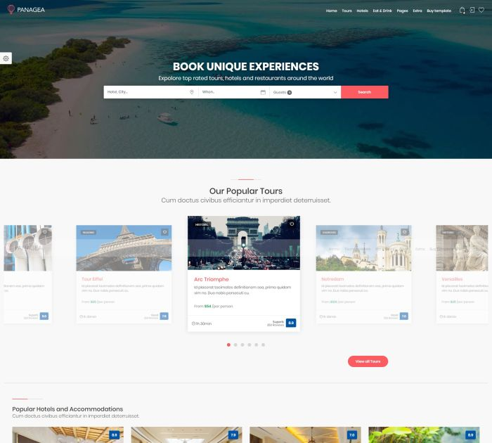 Best Bootstrap 4 templates: Panagea
