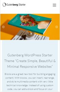 Gutenberg Starter Theme on mobile